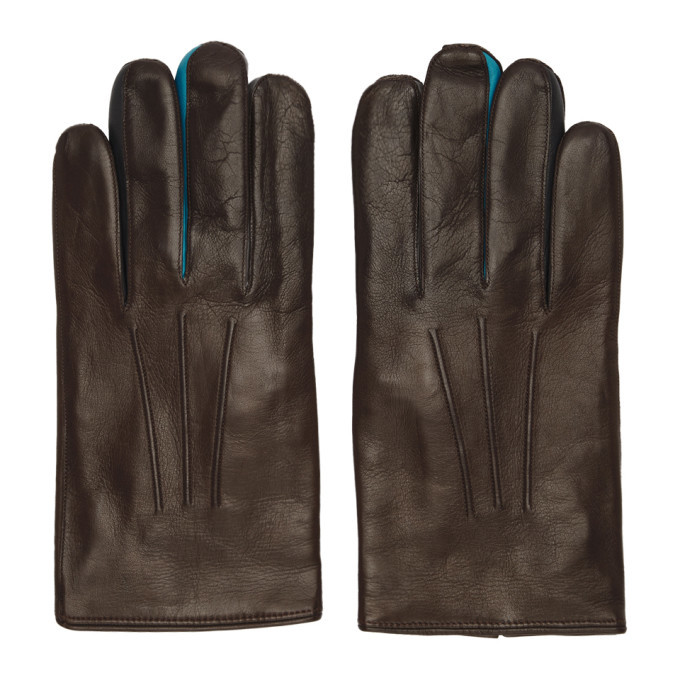 Photo: Paul Smith Brown Leather Concertina Gloves
