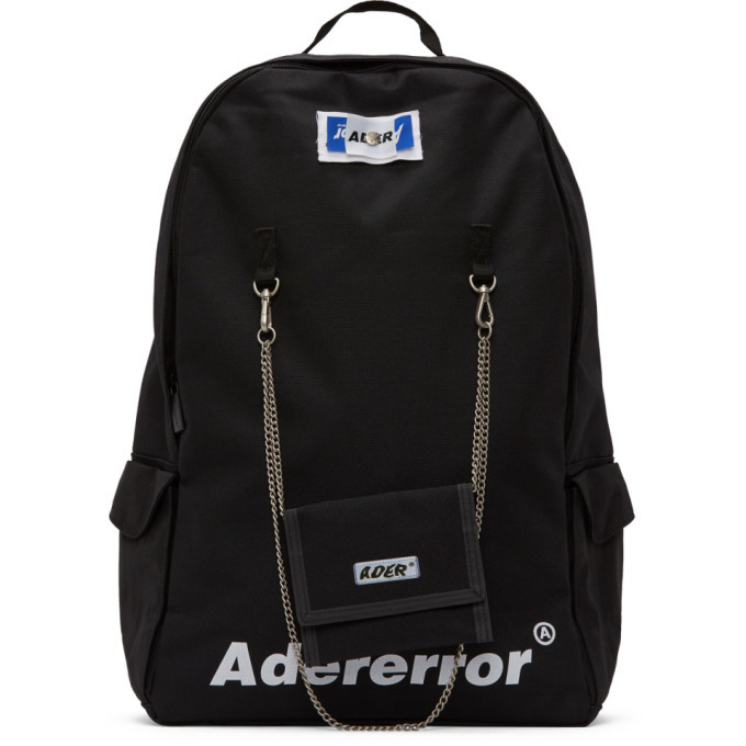 Photo: ADER error Black Rivet Label Fusion Backpack