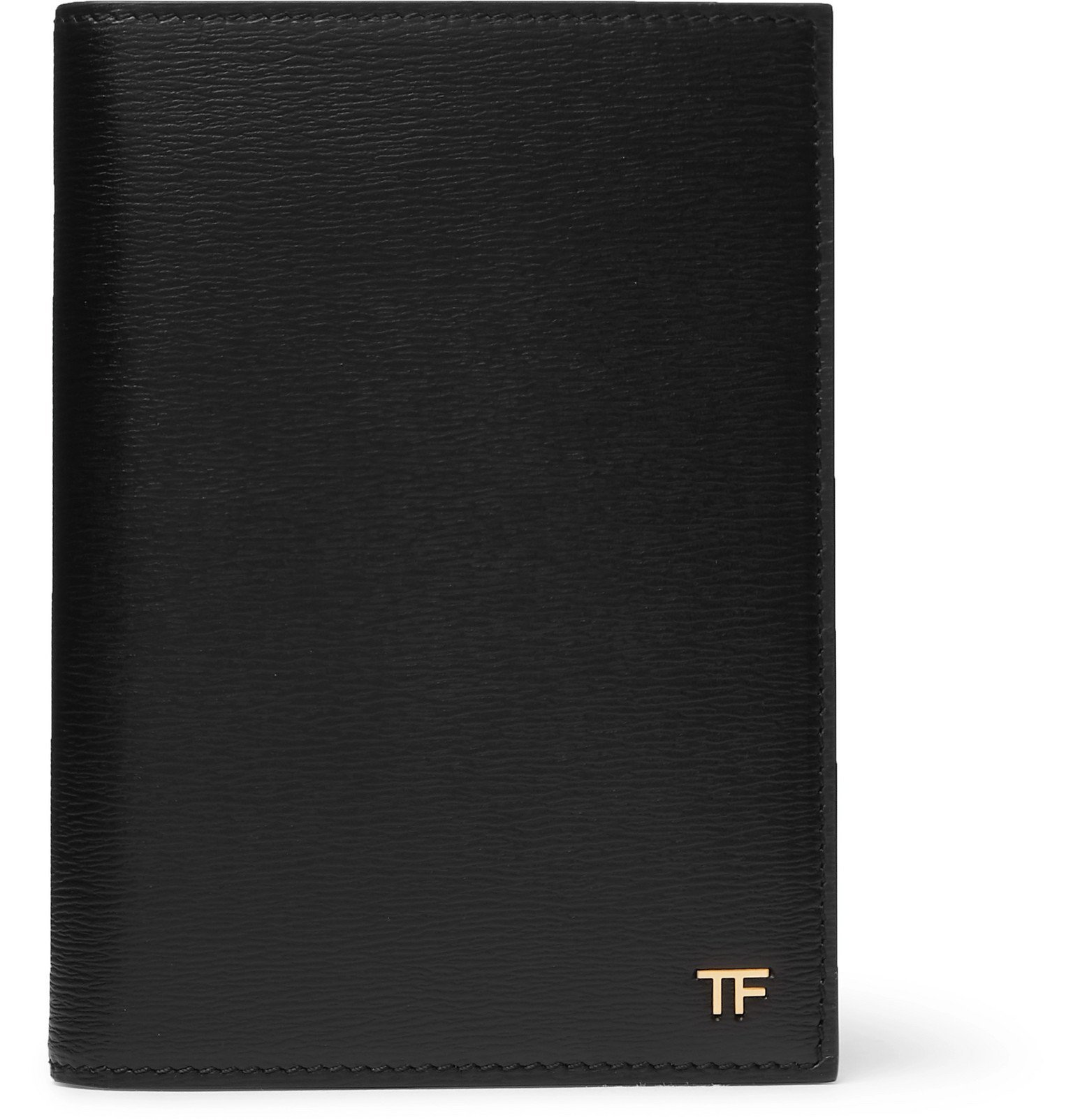 Photo: TOM FORD - Logo-Embellished Textured-Leather Passport Cover - Black