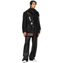 Raf Simons Black Faux-Leather Trousers