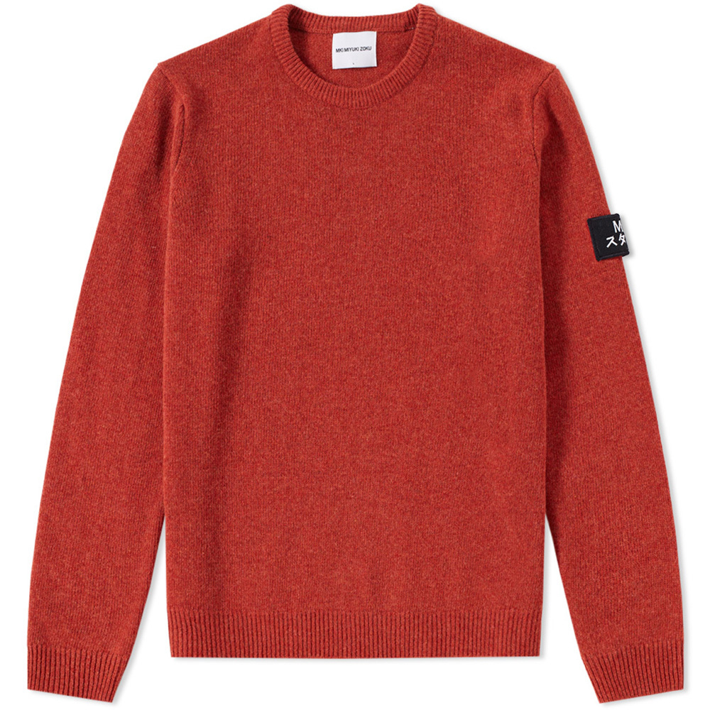 Photo: MKI Arm Badge Lambswool Crew Knit