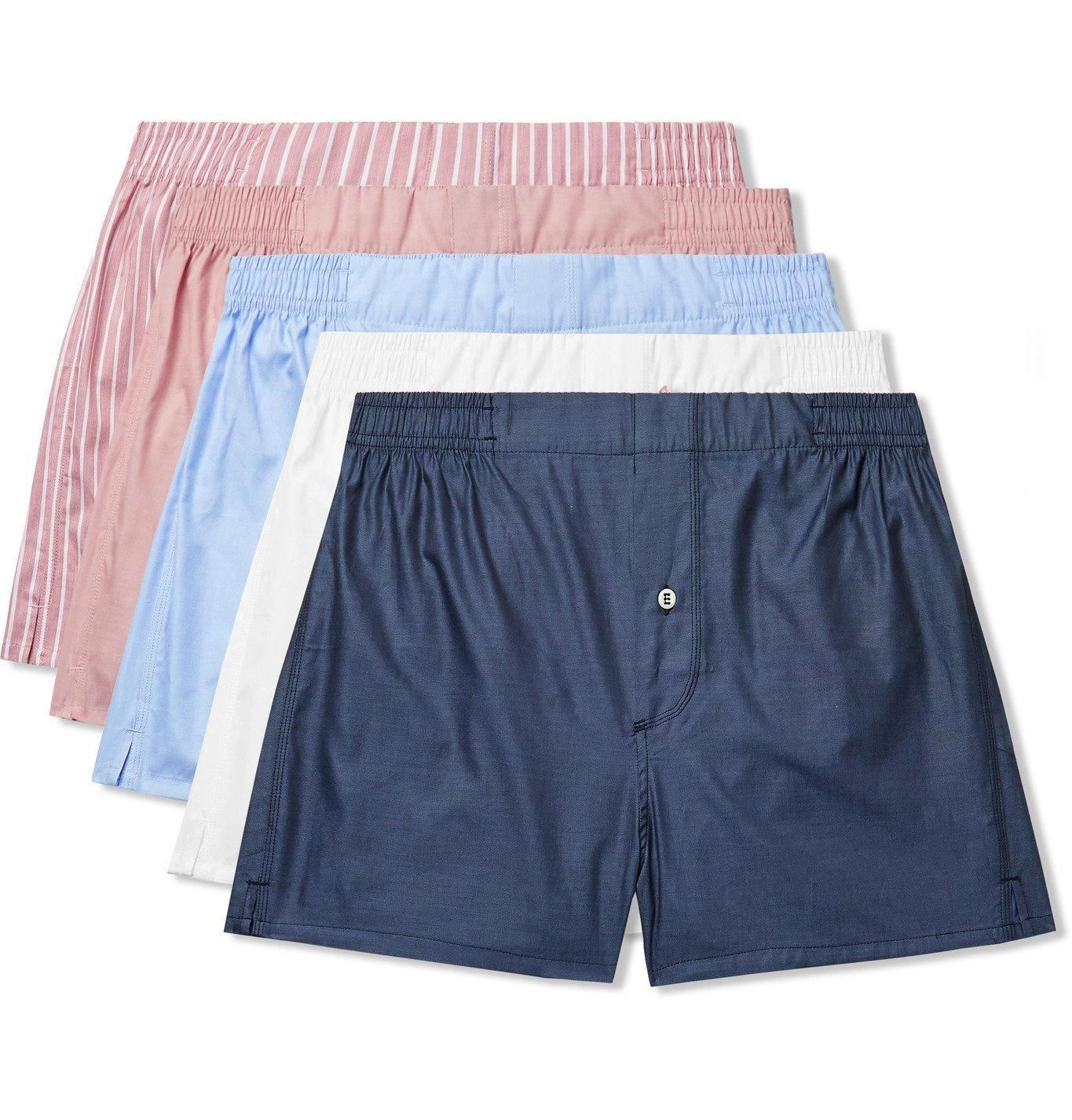 Photo: Hamilton and Hare - Five-Pack Cotton-Blend Boxer Shorts - Multi