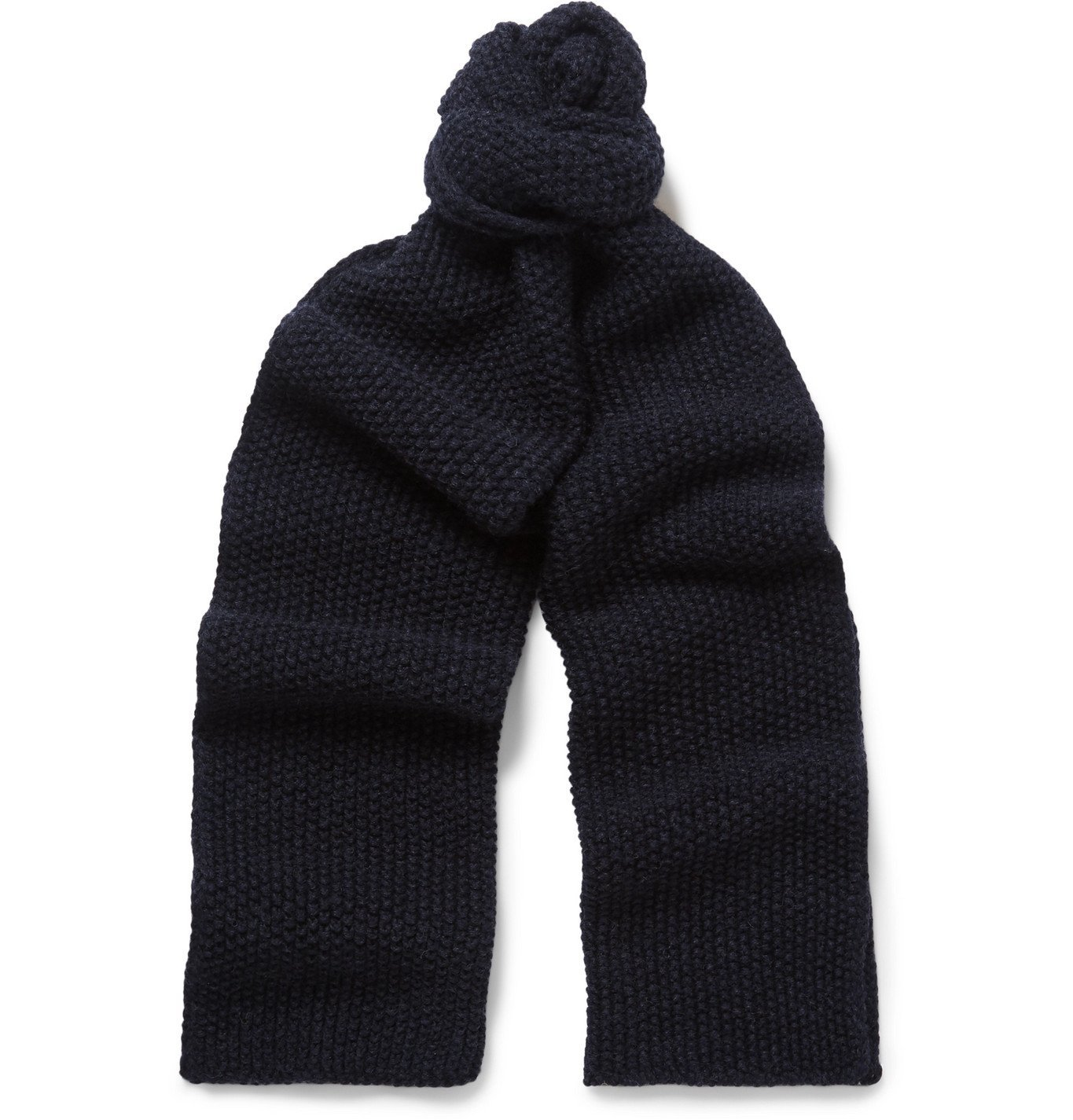 Photo: The Workers Club - Merino Wool Scarf - Blue