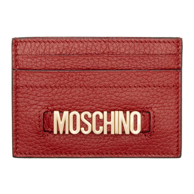 Photo: Moschino Red Logo Card Holder