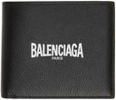 Balenciaga Black Cash 'Paris' Logo Bifold Wallet