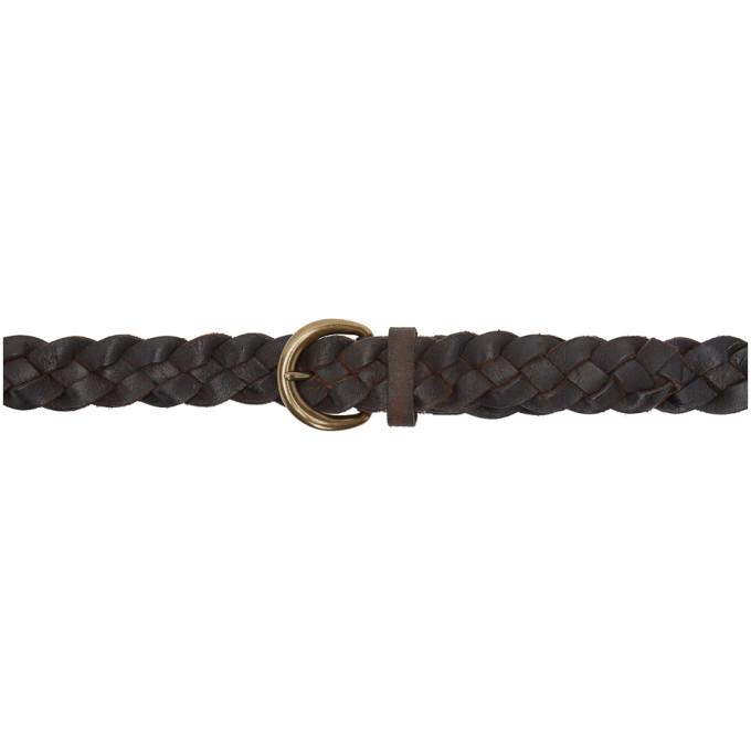 RRL Tan Braided Terrance Belt
