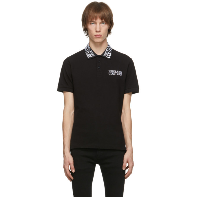 Photo: Versace Jeans Couture Black Logo Polo