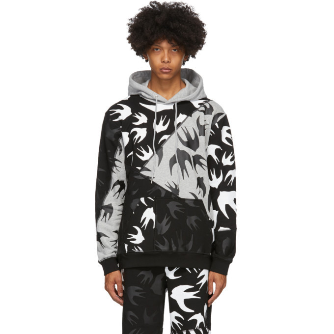 Photo: McQ Alexander McQueen Black and Grey Swallows Hoodie