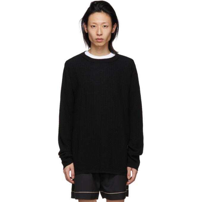 Photo: Comme des Garcons Shirt Black Wool Crewneck Sweater