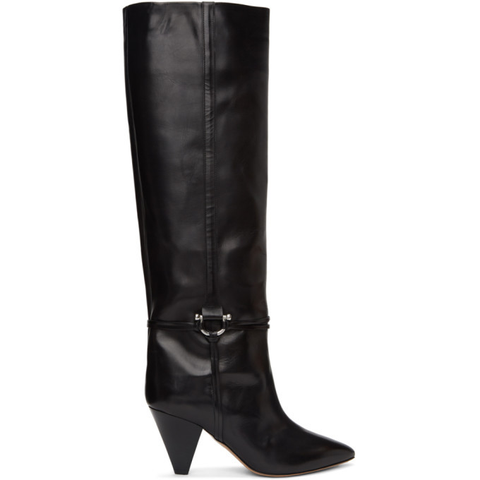 Photo: Isabel Marant Black Leather Learl Tall Boots