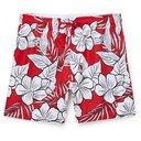 HUGO BOSS - Mid-Length Printed Shell Swim Shorts - Red - S