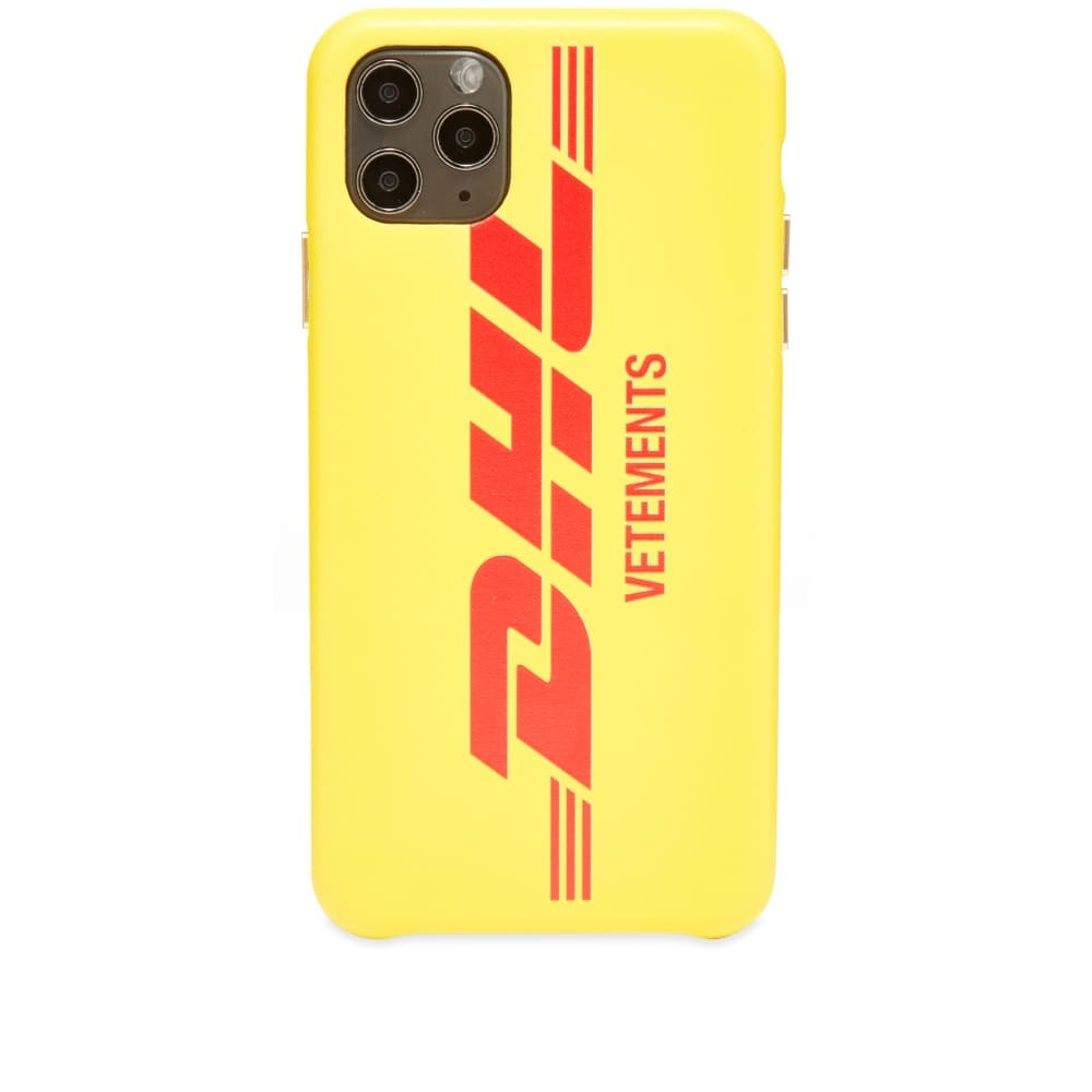 Photo: VETEMENTS DHL Logo iPhone 11 Pro Max Case