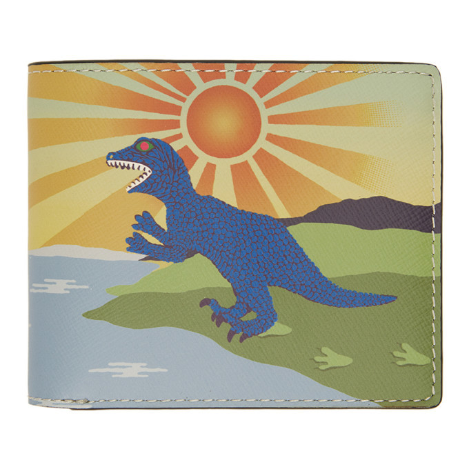 Photo: PS by Paul Smith Multicolor Dino Wallet