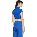 adidas Originals Blue Paolina Russo Edition Crop T-Shirt