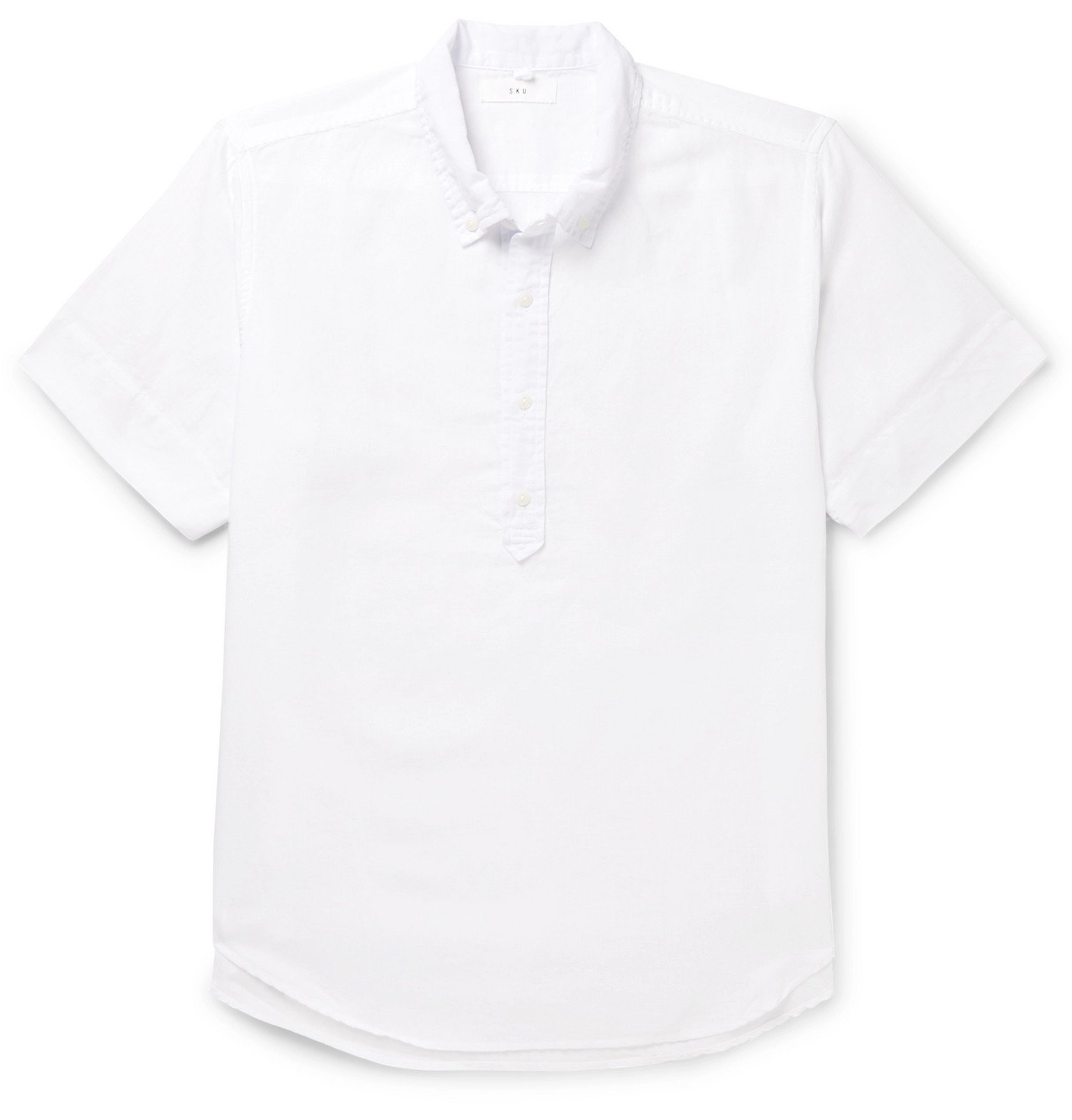 Photo: Save Khaki United - Button-Down Collar Cotton and Linen-Blend Shirt - White