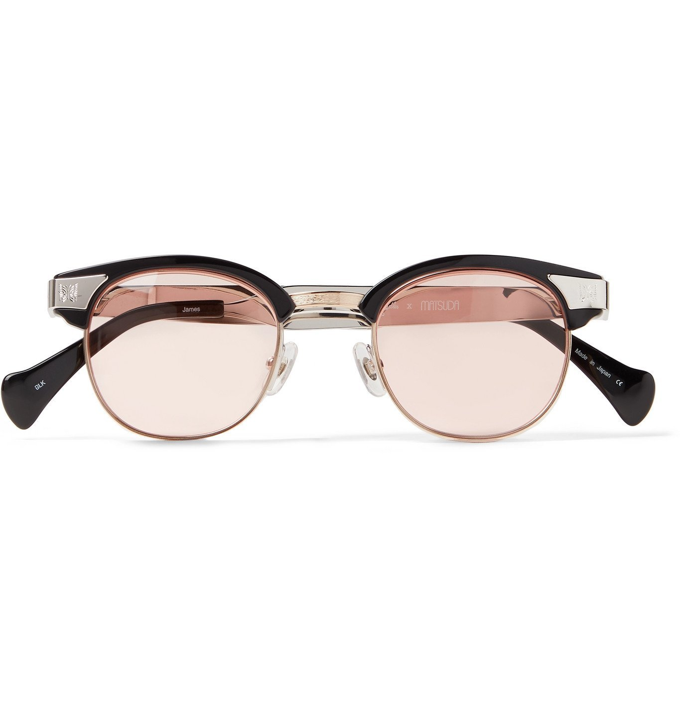 Photo: Needles - Matsuda D-Frame Silver- and Gold-Tone and Acetate Sunglasses - Silver
