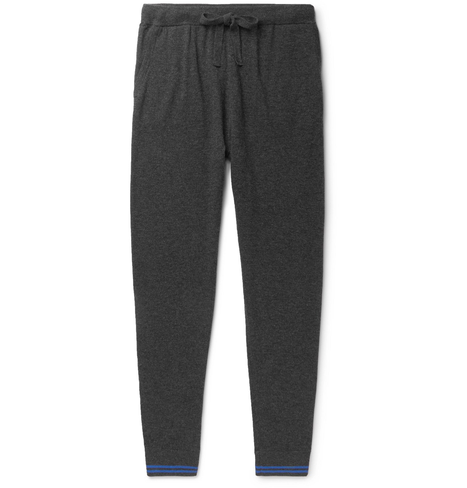 Schiesser - Jonah Slim-Fit Tapered Wool and Cashmere-Blend Sweatpants - Gray