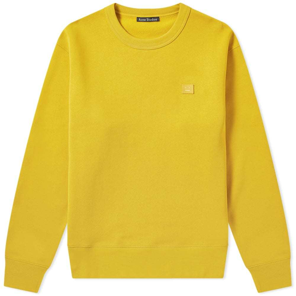 Photo: Acne Studios Fairview Face Crew Sweat Amber Yellow