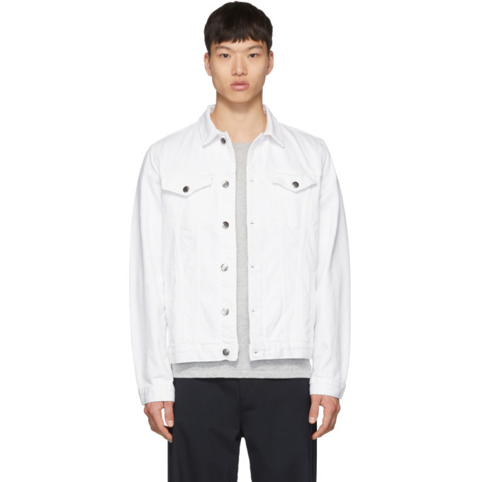 Photo: Frame White Denim LHomme Jacket