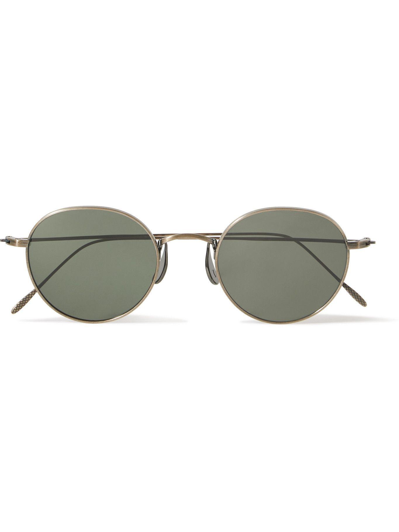 Photo: CUBITTS - Morgan Round-Frame Gold-Tone Sunglasses