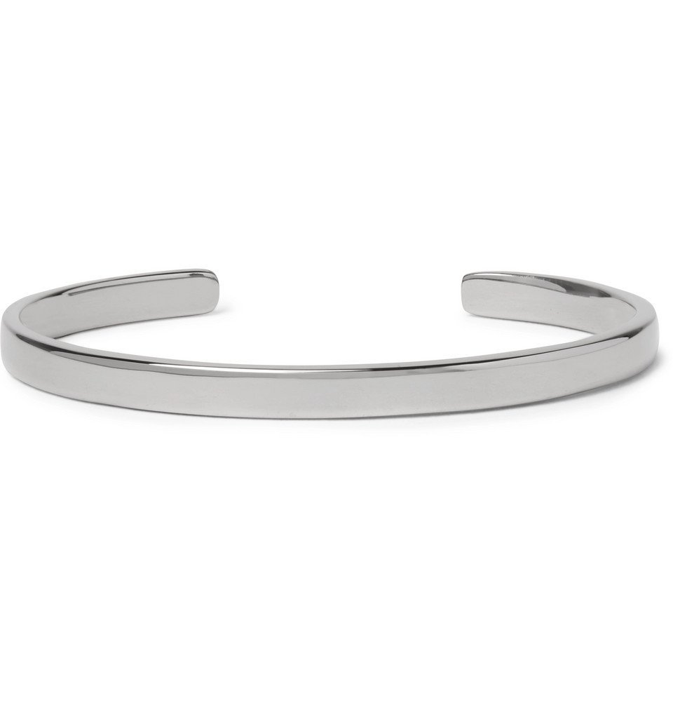Photo: Miansai - Singular Polished Rhodium-Plated Sterling Silver Cuff - Gunmetal