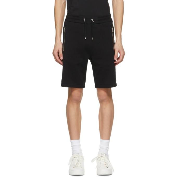 Photo: Balmain Black Embossed Logo Shorts