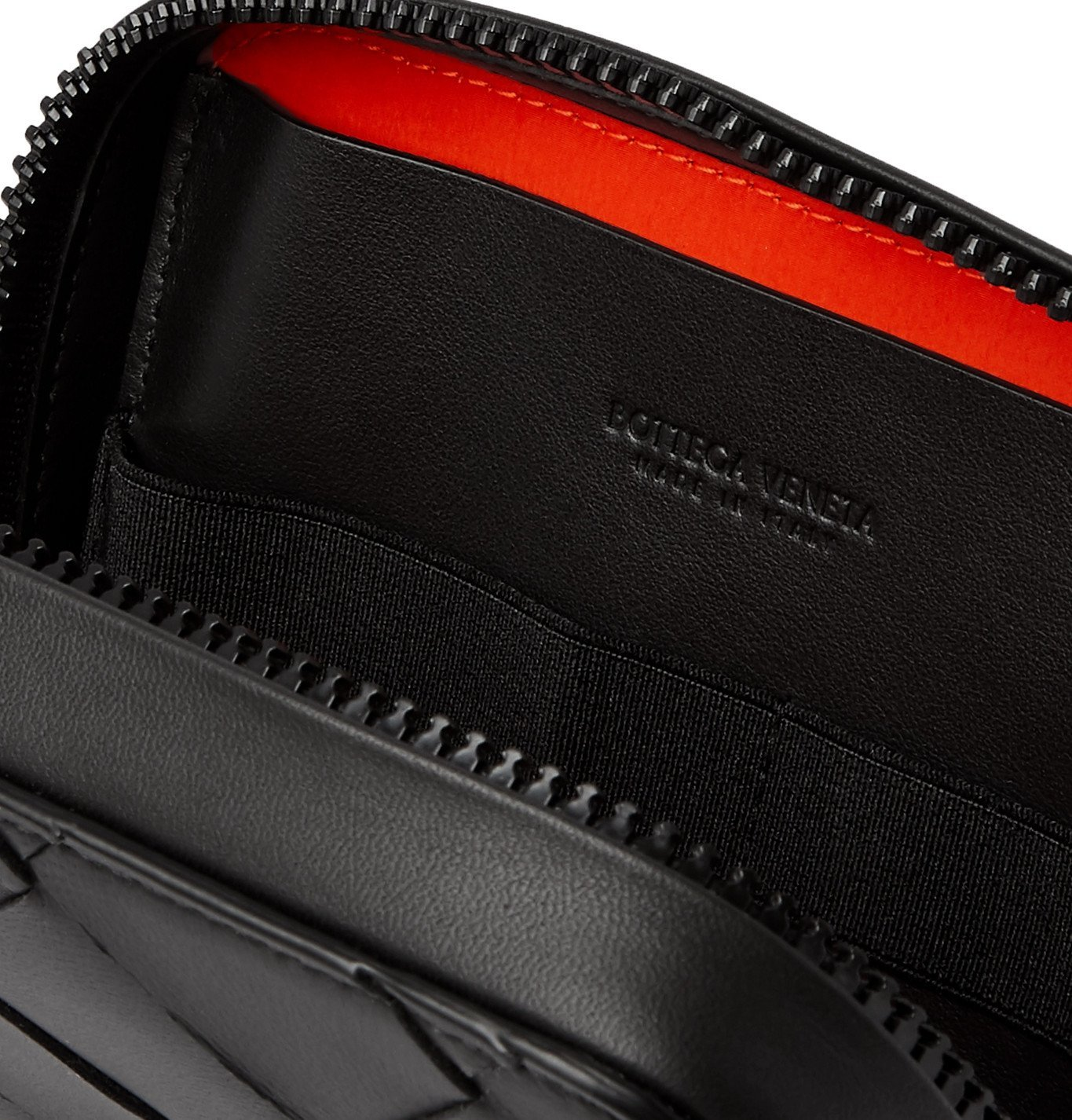 Bottega Veneta - Intrecciato Leather Pouch - Black