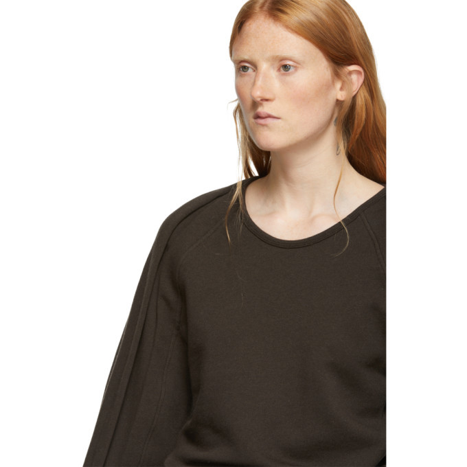 Lemaire Brown Fleece Sweatshirt