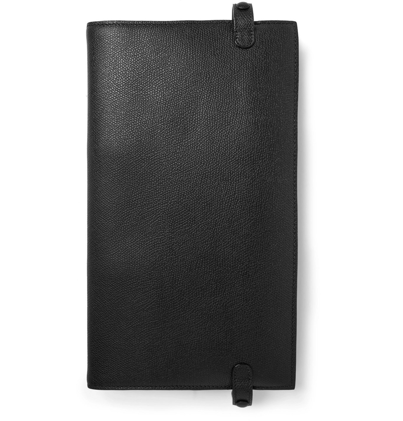 Photo: Valextra - Pebble-Grain Leather Tech Case - Black