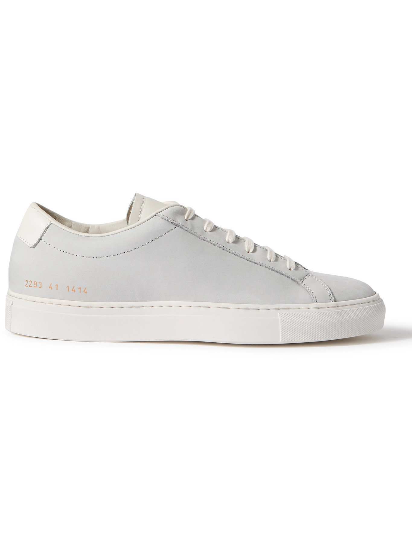 Photo: COMMON PROJECTS - Original Achilles Leather-Trimmed Nubuck Sneakers - Gray