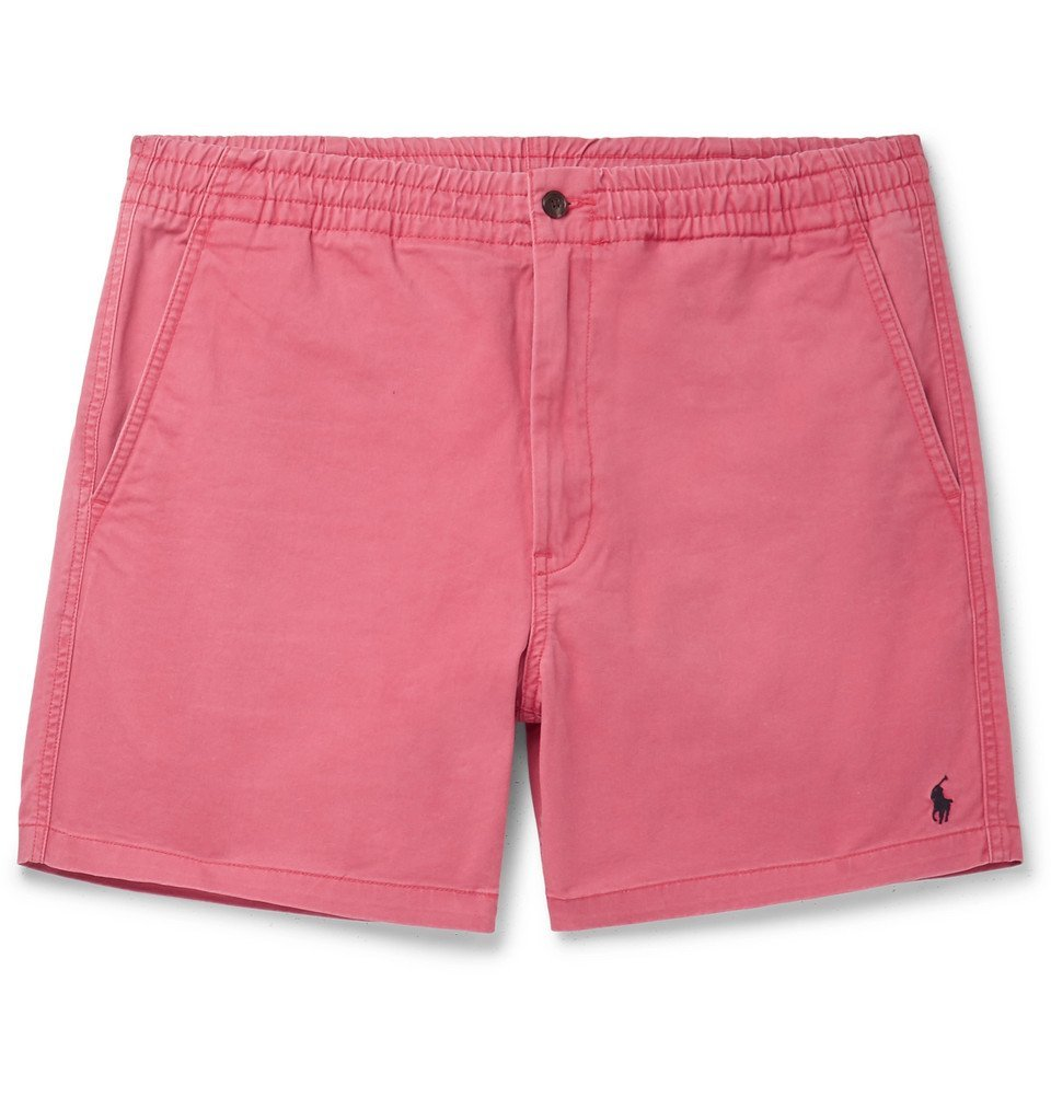 Photo: Polo Ralph Lauren - Washed Cotton-Blend Twill Shorts - Pink