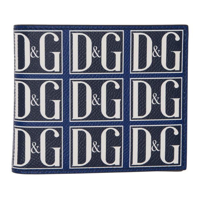 Photo: Dolce and Gabbana Navy and Blue DandG Wallet