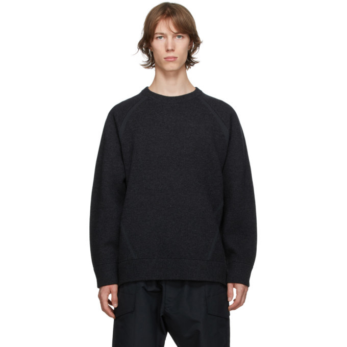 Photo: Y-3 Grey Knit Classic Winter Sweater