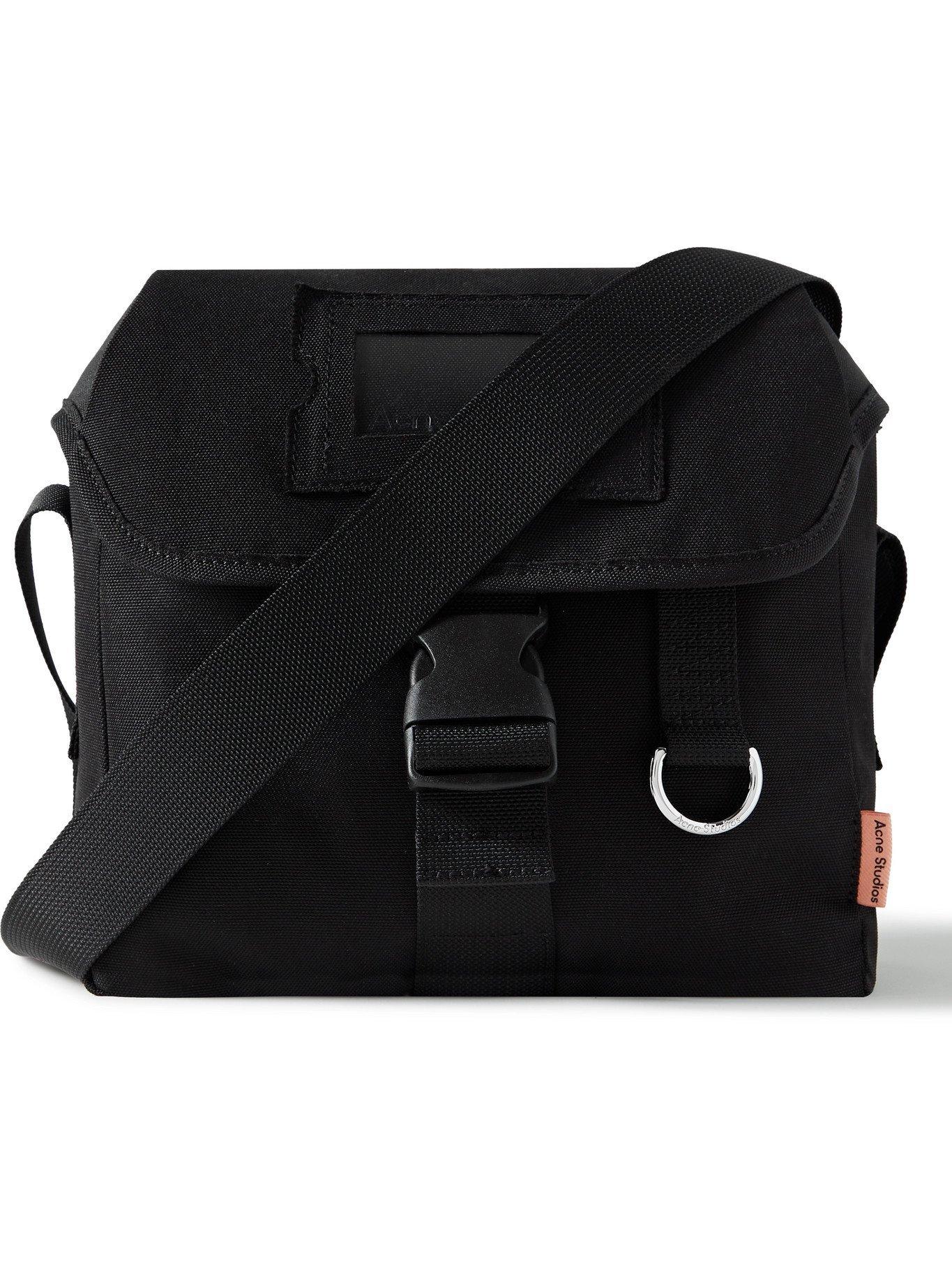 Photo: ACNE STUDIOS - Webbing-Trimmed Twill Messenger Bag