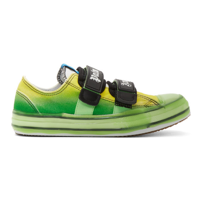 Photo: Palm Angels Green Vulcanized Sneakers