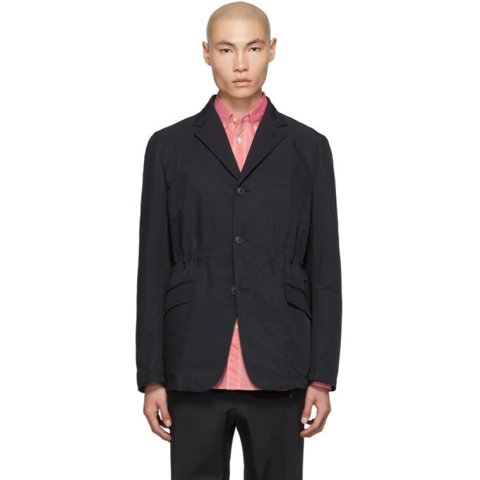 Photo: Comme des Garcons Homme Navy Weather Blazer