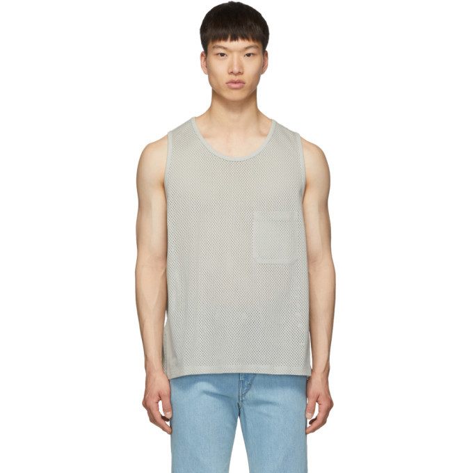 Photo: Lemaire Grey Sunspel Edition Mesh Tank Top