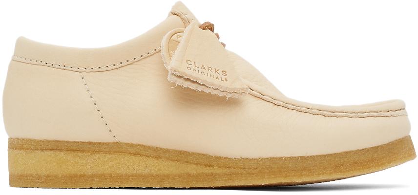 Photo: Clarks Originals Beige Leather Wallabee Derbys