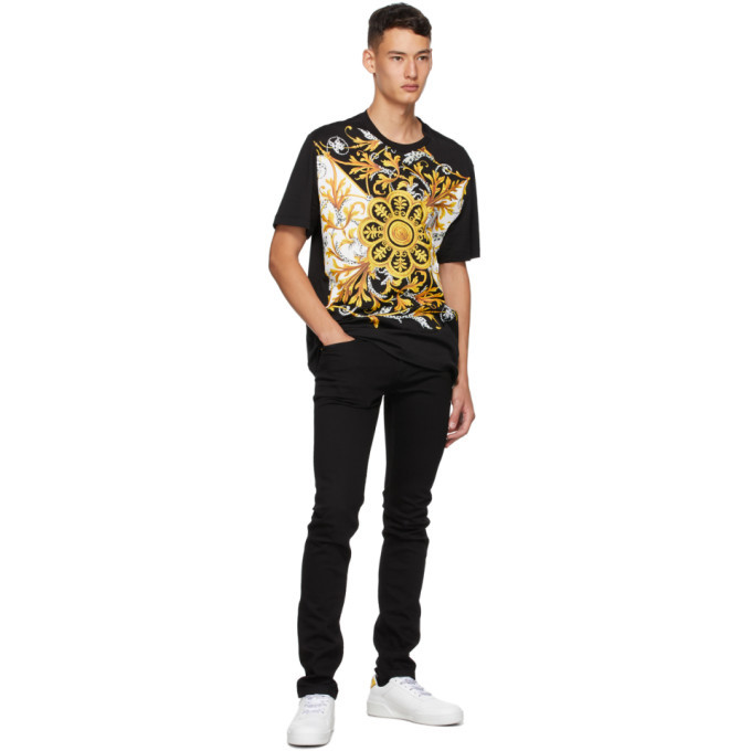 Versace Black Barocco Mitchell T-Shirt
