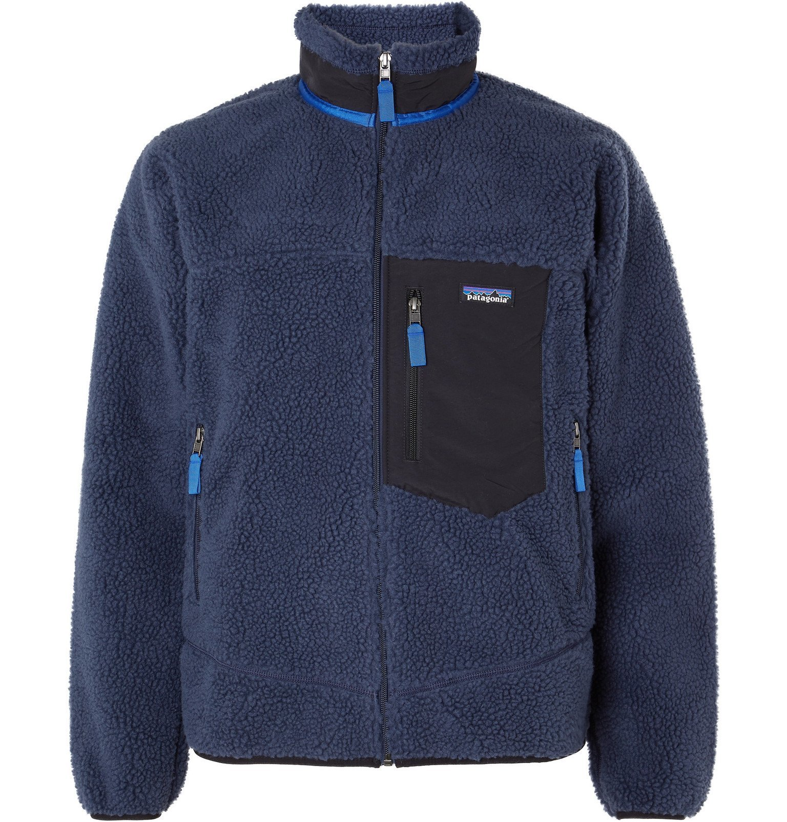 Photo: Patagonia - Classic Retro-X Shell-Trimmed Fleece Jacket - Blue