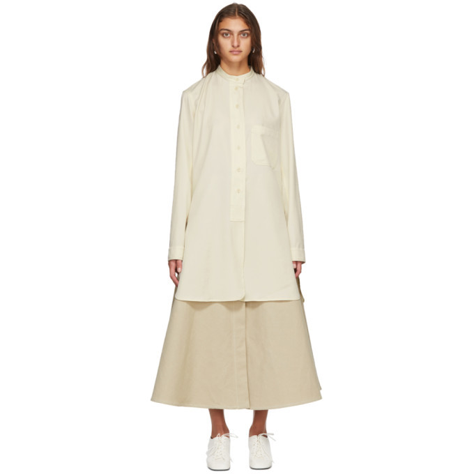 Photo: Lemaire Off-White Wool Long Shirt