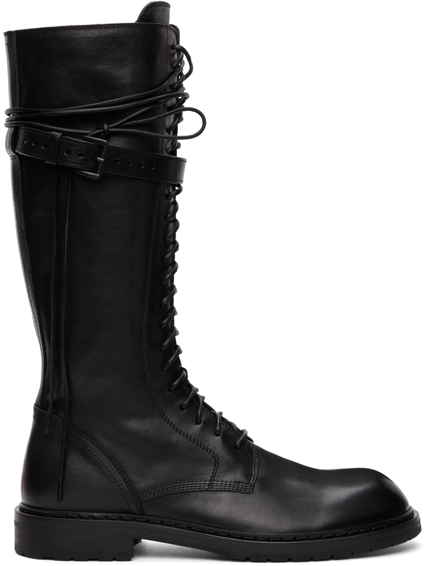 Photo: Ann Demeulemeester Black Leather Knee-High Boots
