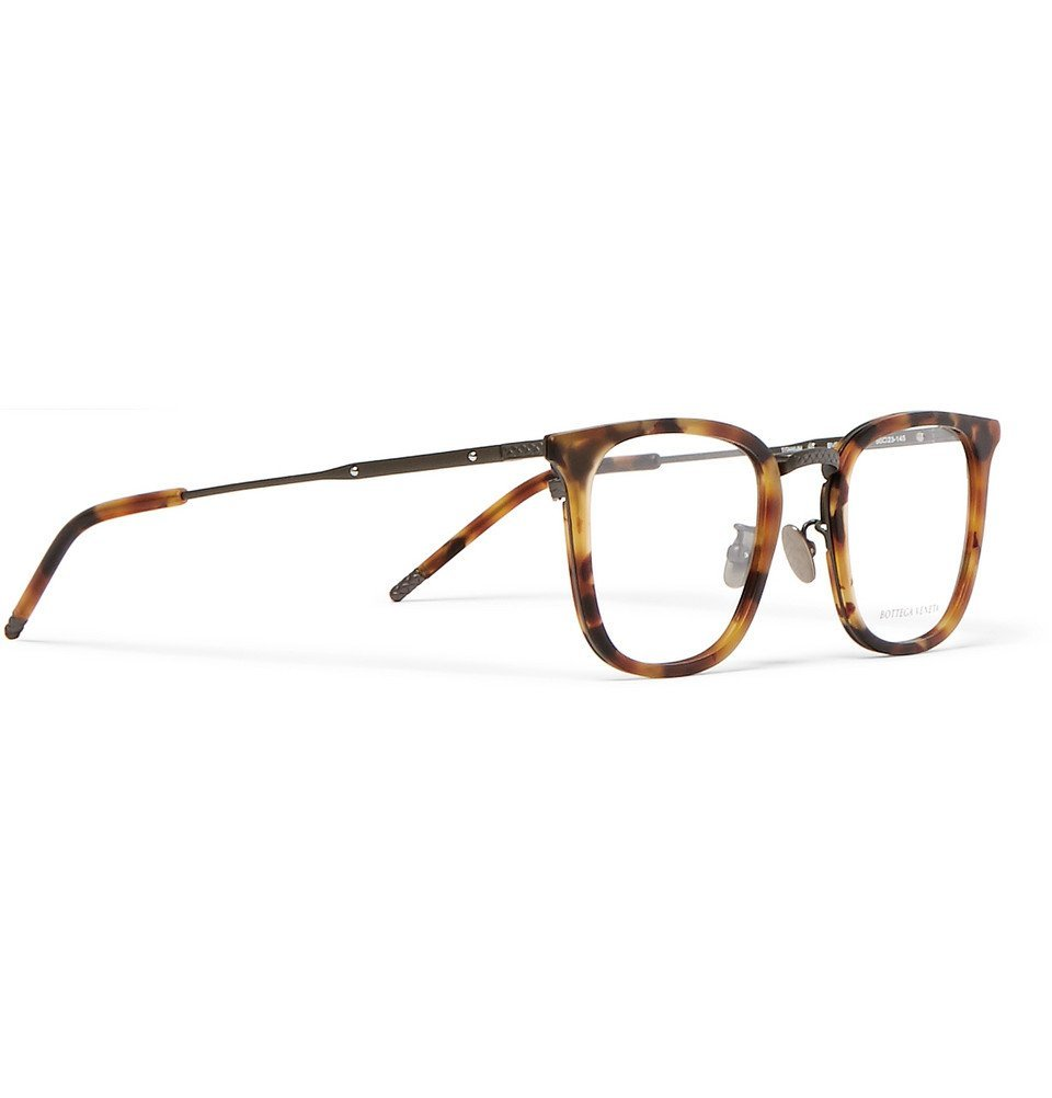 Bottega Veneta - D-Frame Tortoiseshell Acetate and Gunmetal-Tone Optical Glasses - Men - Tortoiseshell