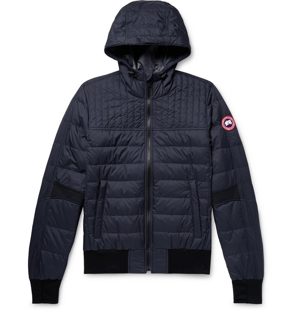 Photo: Canada Goose - Cabri Slim-Fit Quilted Nylon-Ripstop Hooded Down Jacket - Navy