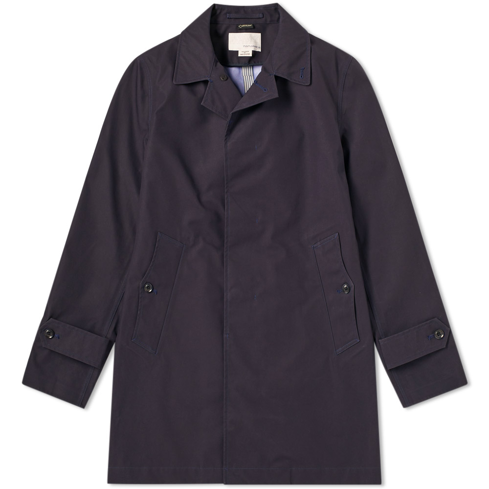 Photo: Nanamica Gore-Tex Soutien Collar Coat Blue