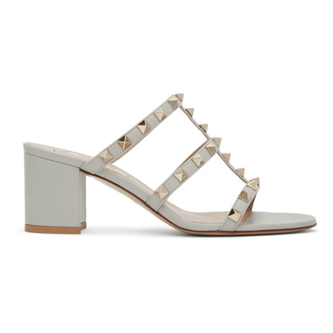 Photo: Valentino Green Valentino Garavani Rockstud Sandals