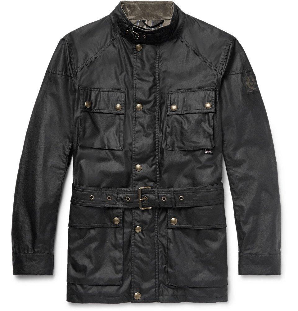 Belstaff - Trialmaster Waxed-Cotton Jacket - Men - Black