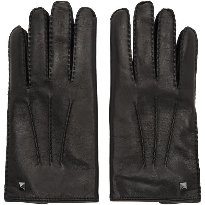 Photo: Valentino Black Valentino Garavani Mini Stud Gloves