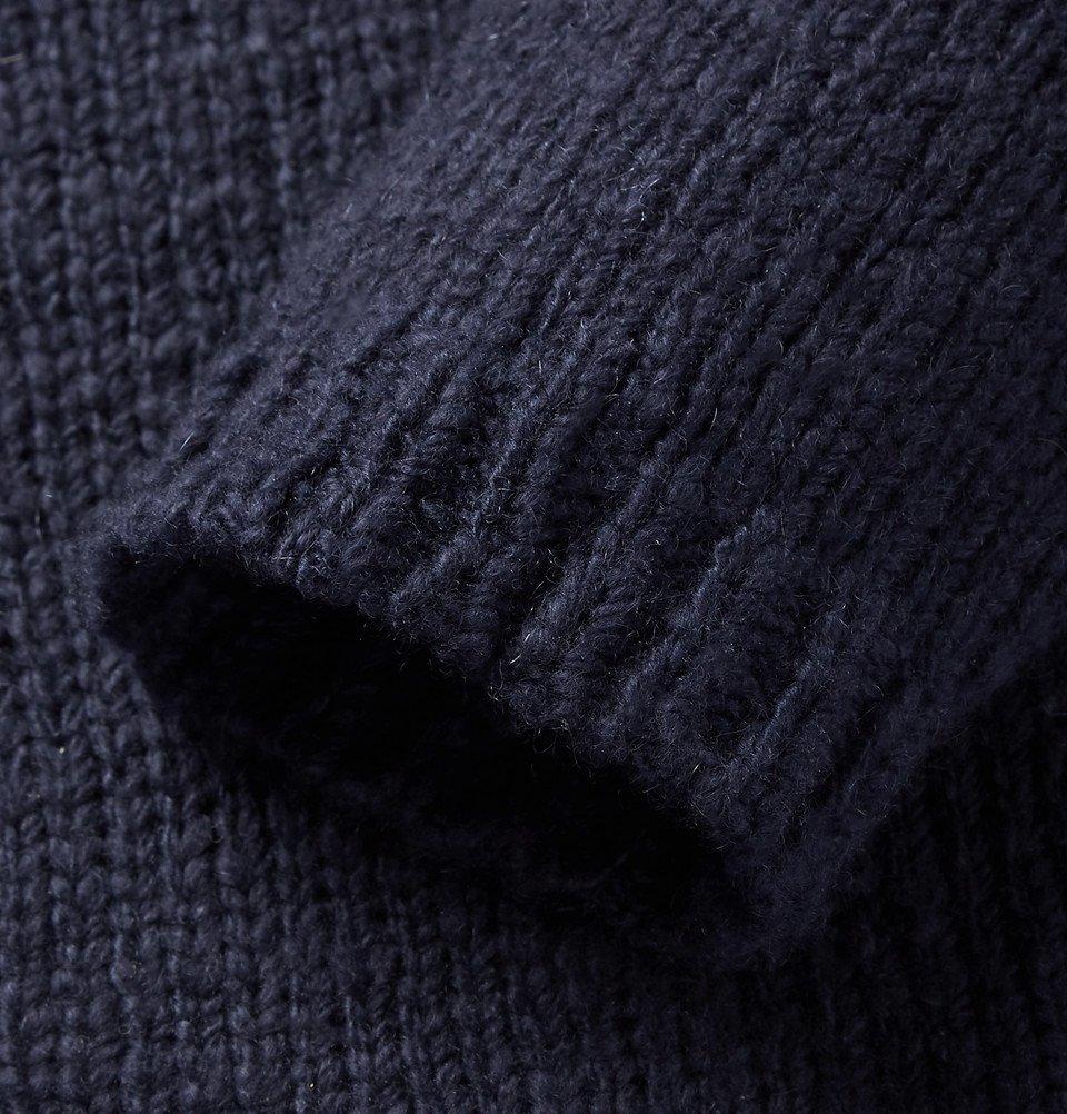 The Elder Statesman - Slim-Fit Striped Cashmere Sweater - Navy