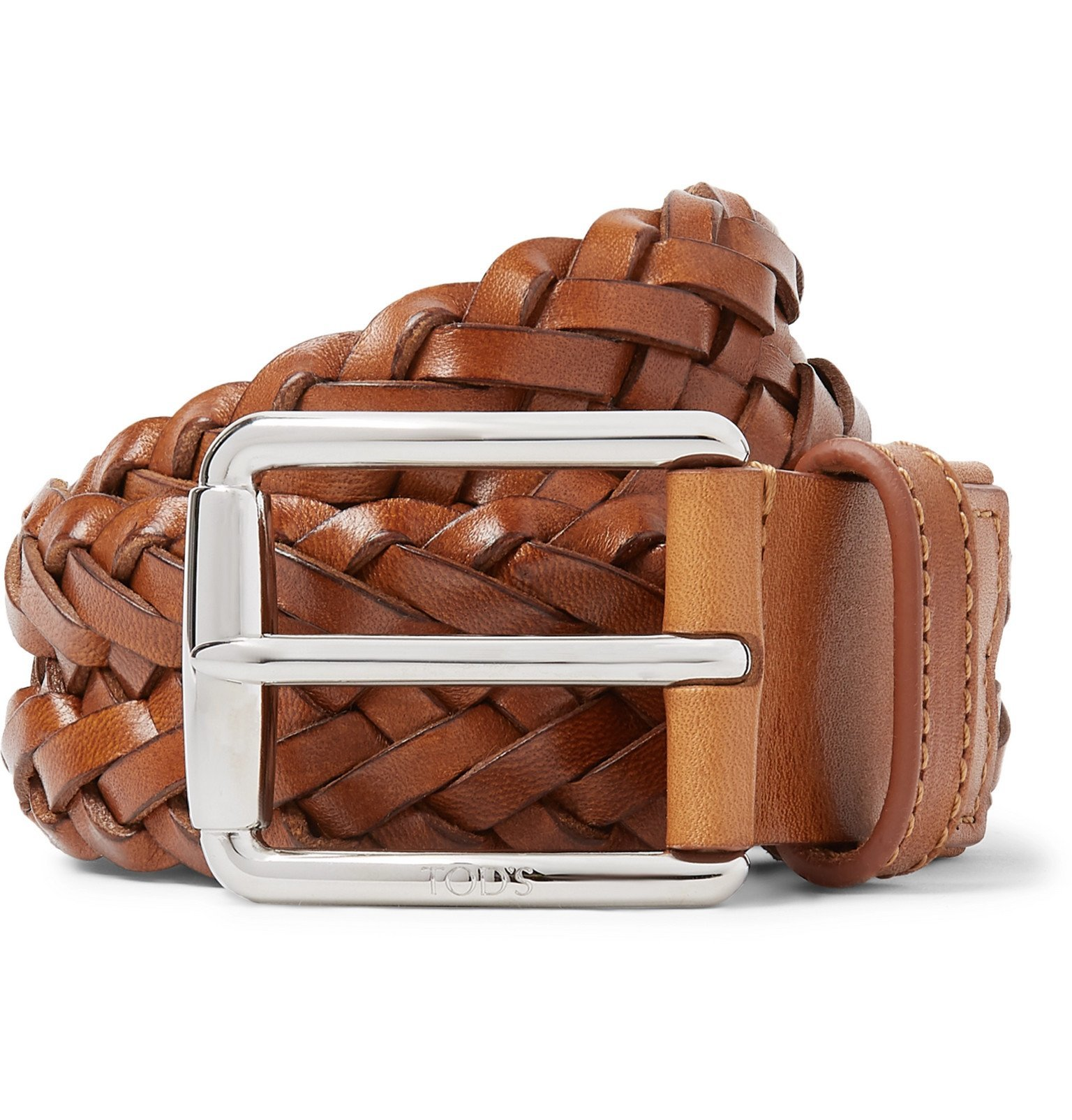 Photo: Tod's - 3.5cm Woven Leather Belt - Brown
